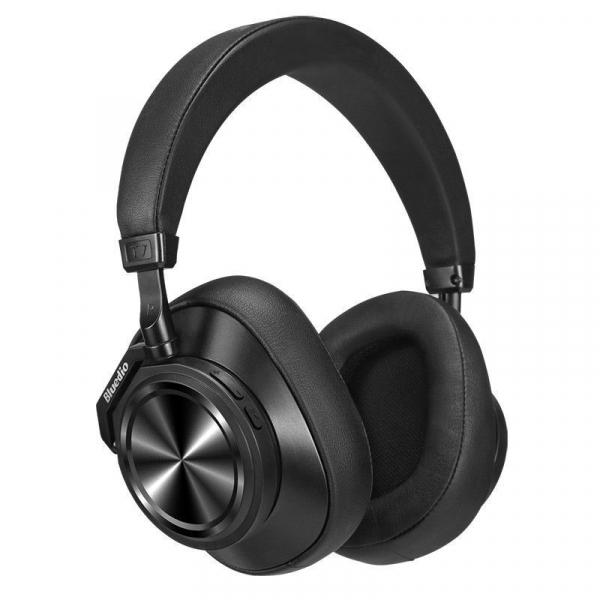 Casti Wireless Bluedio T7 Stereo, Bass Hi Fi, Anularea zgomotelor, USB Tip C, Bluetooth, Microfon, Handsfree, Control Volum 3