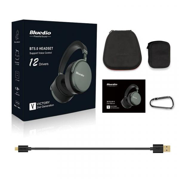 Casti Wireless Bluedio Victory 2 ( V2 ), Stereo, 12 Difuzoare, Bluetooth 5, USB Tip C, Cloud Service, Control Aplicatie 5