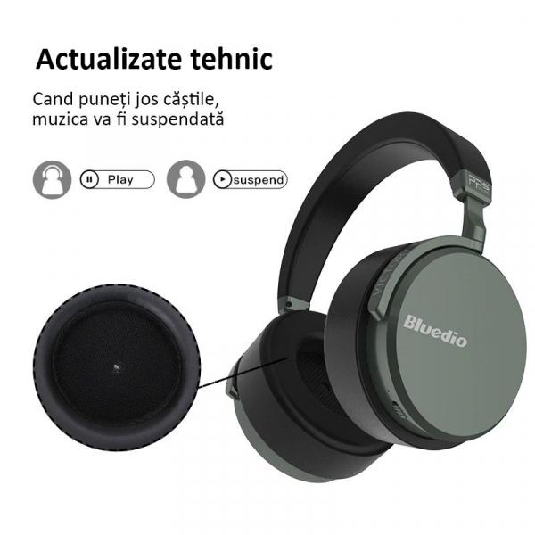 Casti Wireless Bluedio Victory 2 ( V2 ), Stereo, 12 Difuzoare, Bluetooth 5, USB Tip C, Cloud Service, Control Aplicatie 3