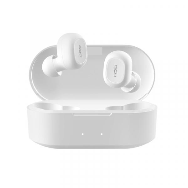 Casti wireless in-ear QCY T1X TWS cu cutie de incarcare si transport de 800mAh, Chip Qualcomm, Bluetooth v5.0, Apt-X, Alb imagine