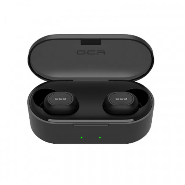 Casti wireless in-ear QCY T1X TWS cu cutie de incarcare si transport de 800mAh, Chip Qualcomm, Bluetooth v5.0, Apt-X, Negru imagine