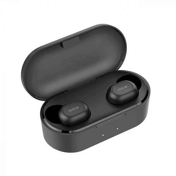 Casti Wireless QCY T1S TWS, HiFi, DSP, Bluetooth 5.0, Binaural, IPX4, Cutie incarcare de 800mAh 3