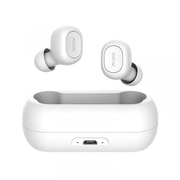 Casti Wireless QCY T1 TWS, Bluetooth 5.0, Binaural, Eliminare zgomot CVC6.0, Cutie incarcare de 380mAh imagine