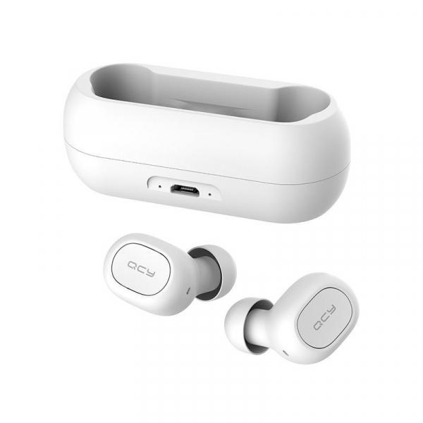 Casti Wireless QCY T1 TWS, Bluetooth 5.0, Binaural, Eliminare zgomot CVC6.0, Cutie incarcare de 380mAh 3