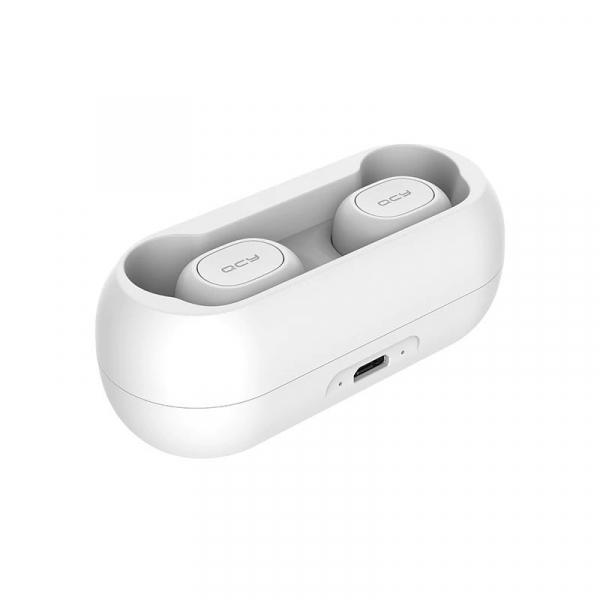 Casti Wireless QCY T1 TWS, Bluetooth 5.0, Binaural, Eliminare zgomot CVC6.0, Cutie incarcare de 380mAh 2