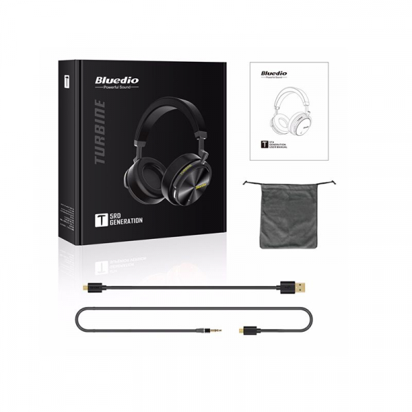 Casti Wireless Stereo Bluedio T5, Anularea zgomotelor, Tip C, Bluetooth, Microfon, Extra Bass 2