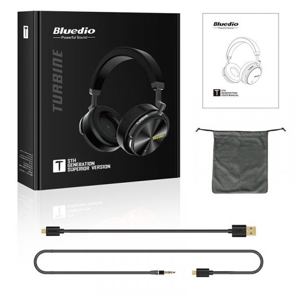 Casti Wireless Stereo Bluedio T5S, Anularea zgomotelor, Tip C, Bluetooth, Microfon, Extra Bass, Senzor Infrarosu 2