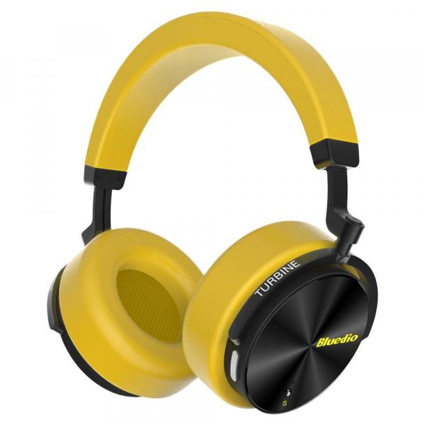 Casti Wireless Stereo Bluedio T5S, Anularea zgomotelor, Tip C, Bluetooth, Microfon, Extra Bass, Senzor Infrarosu imagine