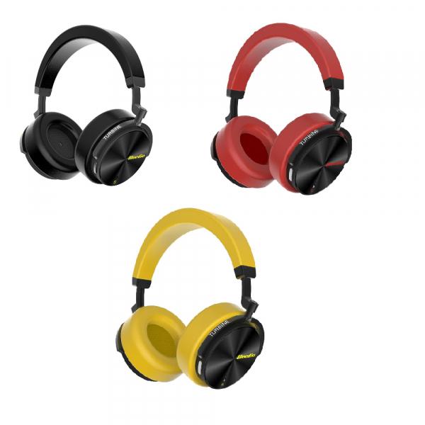 Casti Wireless Stereo Bluedio T5S, Anularea zgomotelor, Tip C, Bluetooth, Microfon, Extra Bass, Senzor Infrarosu 0