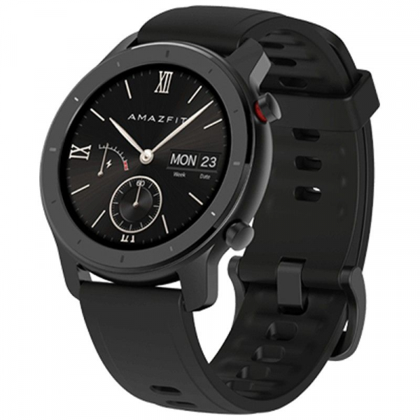 Smartwatch Xiaomi Huami Amazfit GTR, 1.2 inch, 42 mm, Amoled, GPS, 5ATM Waterproof, Bluetooth 5.0, 195 mAh, Global, Negru imagine dualstore.ro 2021