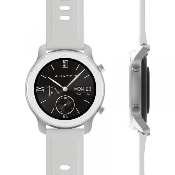 Smartwatch Xiaomi Huami Amazfit GTR Alb, 1.2 inch, 42 mm, Amoled, GPS, 5ATM Waterproof, Bluetooth 5.0, 195 mAh, Global, Resigilat 1