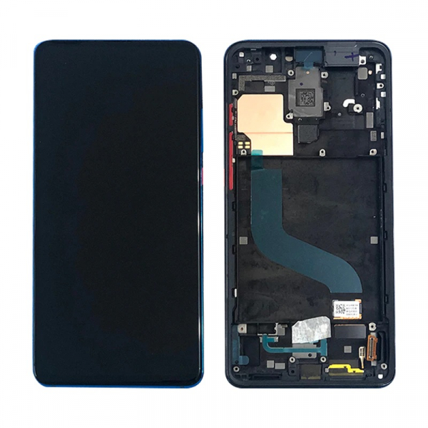 Display OGS cu rama Xiaomi Mi 9T Mi 9T Pro Redmi K20 Redmi K20 Pro Negru imagine dualstore.ro 2021