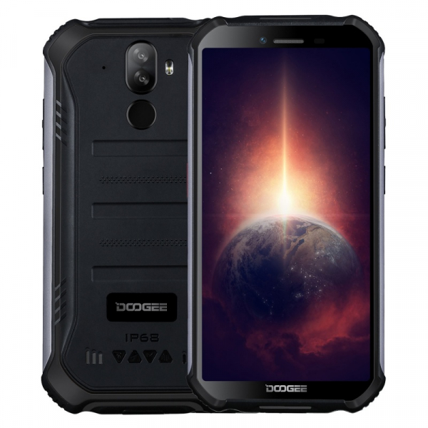 Telefon mobil Doogee S40 Pro Negru, 4G, IPS 5.45 , 4GB RAM, 64GB ROM, Android 10, Helio A25 OctaCore, NFC, IP69K, 4650mAh, Dual SIM imagine