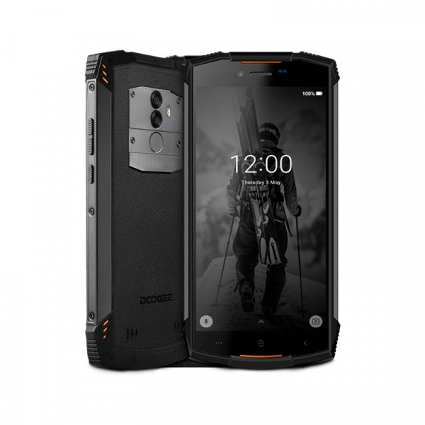 Telefon mobil Doogee S55 4G, Android 8.0, 4GB RAM 64GB ROM, 5.5 inch, MTK6750T Octa Core, Camera dubla, Amprenta, Dual SIM 1