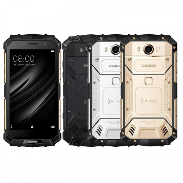 Telefon mobil Doogee S60 4G, Android 7.0, 6GB RAM 64GB ROM, Octa Core, 5.2 inchi, Incarcare wireless, Amprenta, Waterproof, DualSim 0