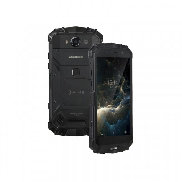 Telefon mobil Doogee S60 4G, Android 7.0, 6GB RAM 64GB ROM, Octa Core, 5.2 inchi, Incarcare wireless, Amprenta, Waterproof, DualSim 3