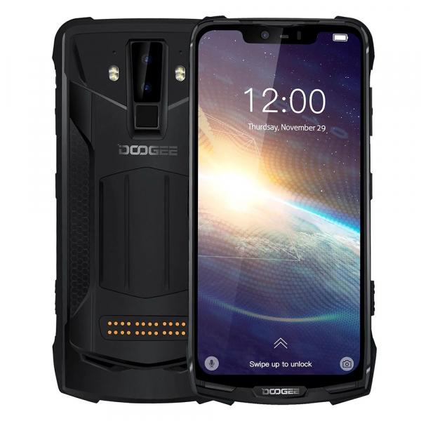 Pachet telefon mobil + 3 module Doogee S90 Pro Super, Android 9.0, 6GB RAM, 128GB ROM, 6.18 IPS, Helio P70, ARM Mali-G72 MP3, Octa Core, NFC, 5050mAh 2