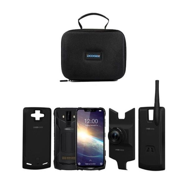Pachet telefon mobil + 3 module Doogee S90 Pro Super, Android 9.0, 6GB RAM, 128GB ROM, 6.18 IPS, Helio P70, ARM Mali-G72 MP3, Octa Core, NFC, 5050mAh 0