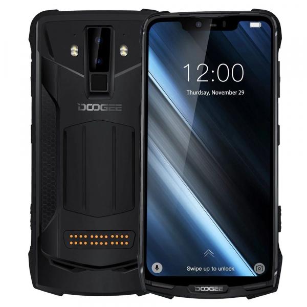 Pachet telefon mobil + 3 module Doogee S90C Super, IPS 6.18inch, 4GB RAM, 64GB ROM, Android 9.0, Helio P70, Mali-G72 MP3, Octa Core, 5050mAh 3