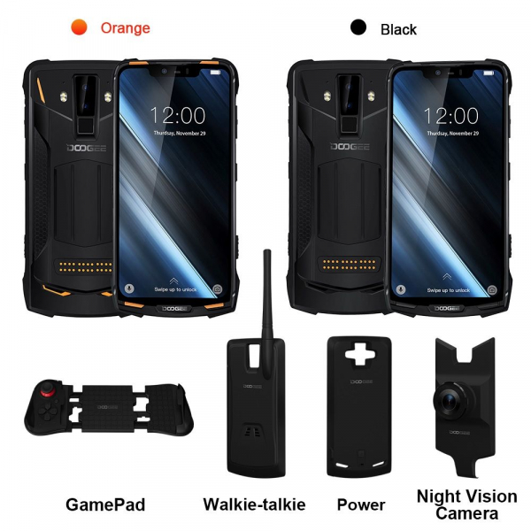 Pachet telefon mobil + 3 module Doogee S90C Super, IPS 6.18inch, 4GB RAM, 64GB ROM, Android 9.0, Helio P70, Mali-G72 MP3, Octa Core, 5050mAh 1