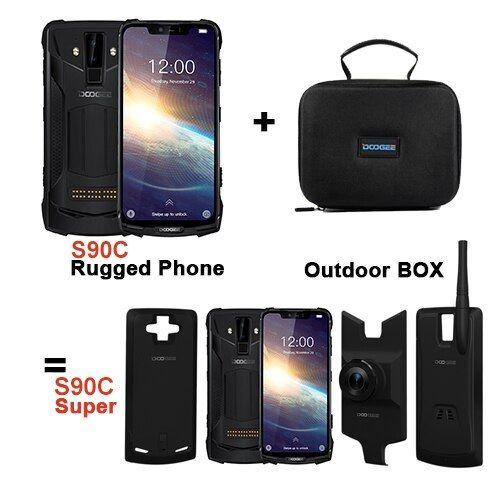 Pachet telefon mobil + 3 module Doogee S90C Super, IPS 6.18inch, 4GB RAM, 64GB ROM, Android 9.0, Helio P70, Mali-G72 MP3, Octa Core, 5050mAh 2