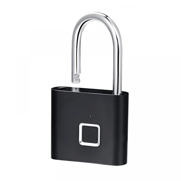 Lacat smart cu amprenta Star Fingerprint Lock fara cheie reincarcabil din aliaj de Zinc cu memorie 10 amprente si autonomie 12 luni Negru 2