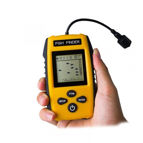 Fish Finder Portabil - sonar pentru pescuit , Senzor Adancime 100m, Pentru pescuitul la mare, lac, rau si balta 3
