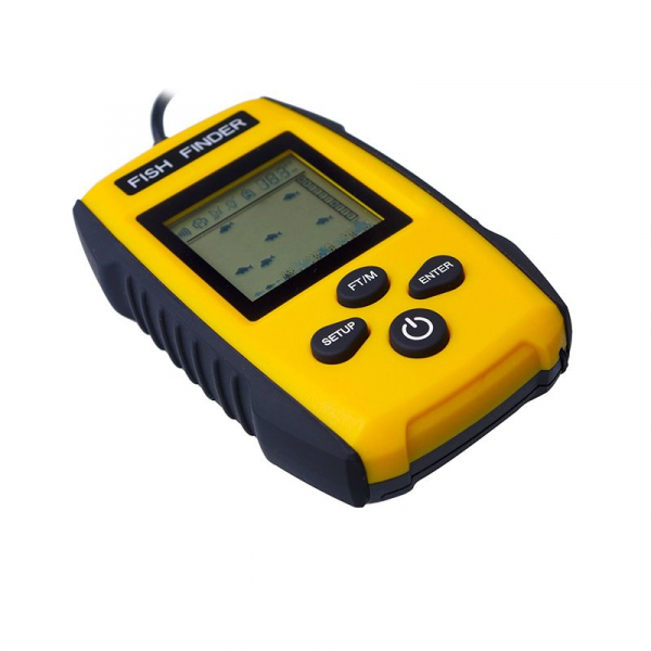 Fish Finder Portabil - sonar pentru pescuit , Senzor Adancime 100m, Pentru pescuitul la mare, lac, rau si balta 2