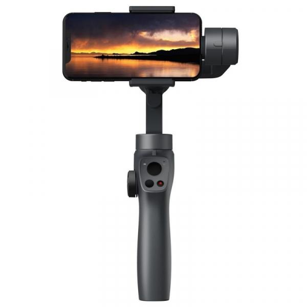 Stabilizator gimbal pe 3 axe FunSnap Capture 2, Auto face tracking, Control zoom, Time lapse, Brat extensibil, 4000mAh, Negru 1