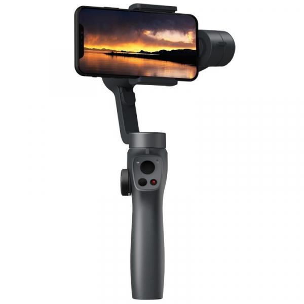 Stabilizator gimbal pe 3 axe FunSnap Capture 2, Auto face tracking, Control zoom, Time lapse, Brat extensibil, 4000mAh, Negru 2