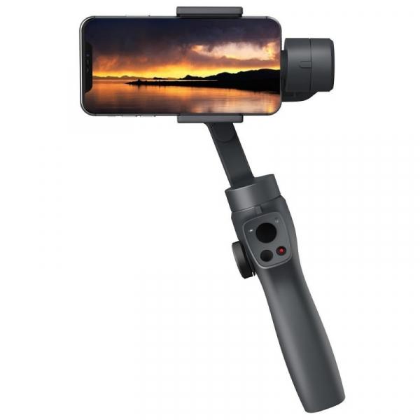 Stabilizator gimbal pe 3 axe FunSnap Capture 2, Auto face tracking, Control zoom, Time lapse, Brat extensibil, 4000mAh, Negru 4