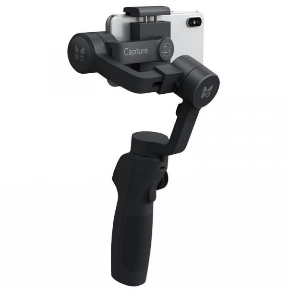 Stabilizator gimbal pe 3 axe FunSnap Capture 2, Auto face tracking, Control zoom, Time lapse, Brat extensibil, 4000mAh, Negru 7