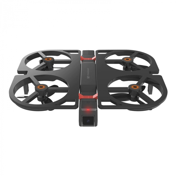 Drona pliabila FunSnap iDol Negru, Motor fara perii, Camera FHD, Senzor CMOS, Memorie 8GB, GPS, Wi-Fi, 1800mAh imagine dualstore.ro 2021