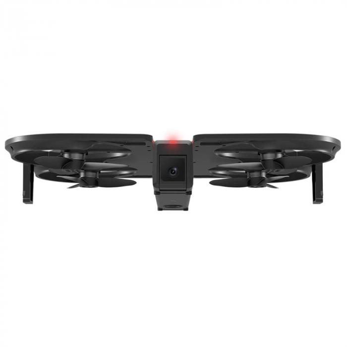 Pachet drona pliabila FunSnap iDol Negru cu 3 baterii, Motor fara perii, Camera FHD, Senzor CMOS, Memorie 8GB, GPS, Wi-Fi, 1800mAh 2