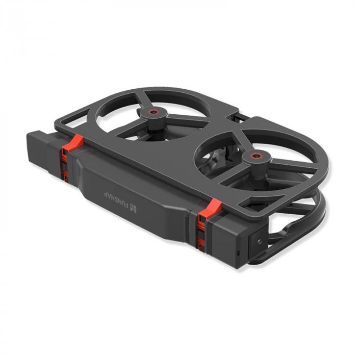 Pachet drona pliabila FunSnap iDol Negru cu 3 baterii, Motor fara perii, Camera FHD, Senzor CMOS, Memorie 8GB, GPS, Wi-Fi, 1800mAh 3