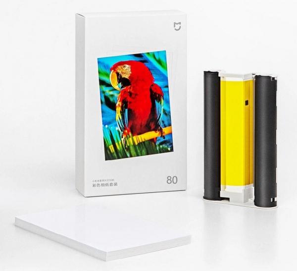 Hartie de printare pentru Xiaomi Mijia AirPrint, 80 de bucati, 6 inch, Anti-umezeala, Anti-amprenta, 2 cartuse 0