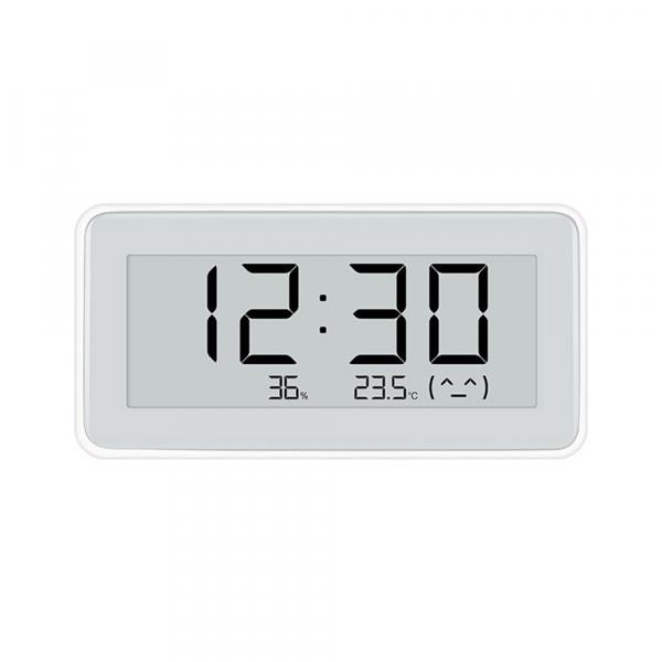 Higrometru Xiaomi Mijia Digital cu ceas, Ecran LCD E-Ink 3.7 inch, Bluetooth, Senzori de temperatura si umiditate imagine dualstore.ro 2021