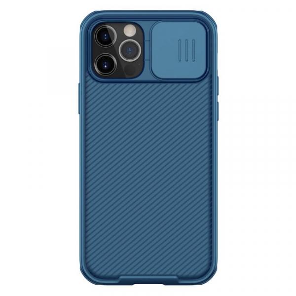 Husa magnetica Nillkin CamShield Pro Albastru pentru iPhone 12 si iPhone 12 Pro, Protectie glisanta pentru camera imagine dualstore.ro 2021