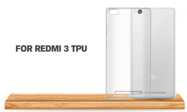Husa din silicon transparent pentru Xiaomi Redmi 3 2