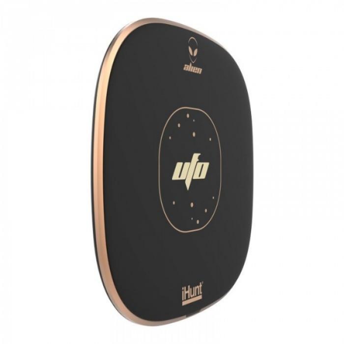 Incarcator wirelessiHunt Alien UFO cu incarcare rapida 10W, Suprafata anti-alunecare, Multiple sisteme de protectie, Portabil 2