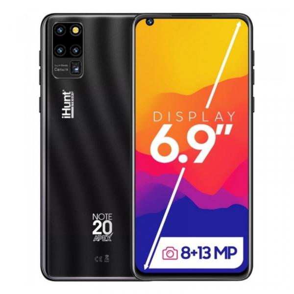 Telefon mobil iHunt Note 20 ApeX 2021 Negru, 3G, IPS 6.9 , 2GB RAM, 16GB ROM, Android 9, Spreadtrum SC7731E, 3600mAh, Dual SIM imagine