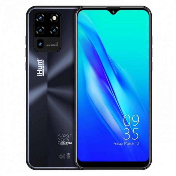 Telefon mobil iHunt S21 Ultra 4G 2021 Negru, IPS 6.3 , 2GB RAM, 16GB ROM, Android 10 GO, Spreadtrum SC9832E, Face ID, 4000mAh, Dual SIM imagine dualstore.ro 2021