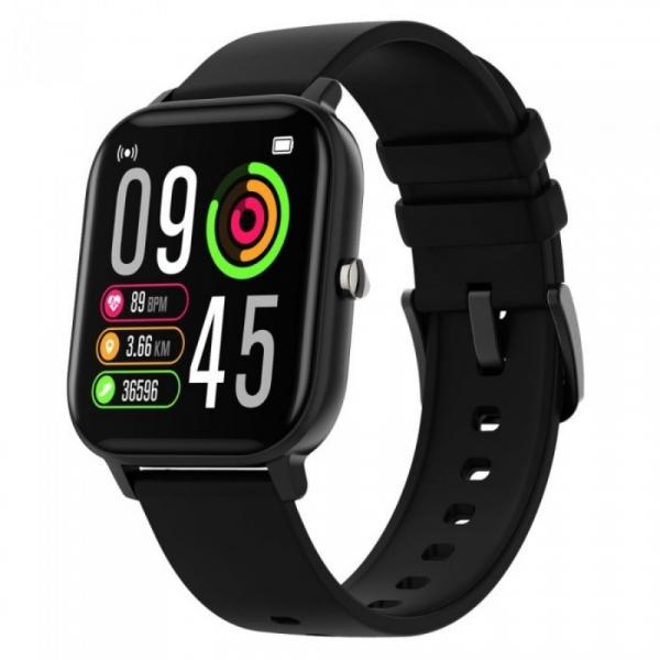 Smartwatch iHunt Watch ME Temp Pro 2021 Negru, 1.4 HD, Temperatura, Tensiune arteriala, Saturatie oxigen, Ritm cardiac, Calorii, IP67 imagine