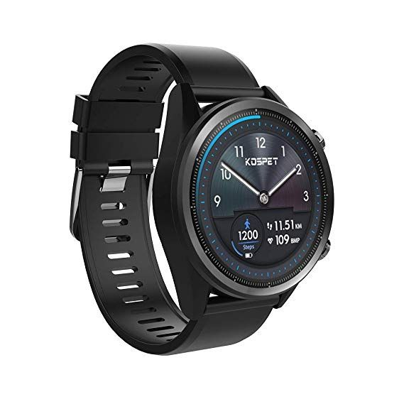 Smartwatch Kospet Hope, 4G, 3GB RAM, 32GB ROM, Bluetooth, Android 7.1.1, 1.39 inch, Waterproof IP67, MT6739 0