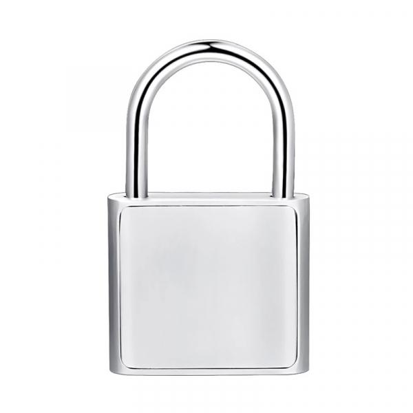 Lacat smart cu amprenta Star Fingerprint Lock fara cheie reincarcabil din aliaj de Zinc cu memorie 10 amprente si autonomie 12 luni Silver 1