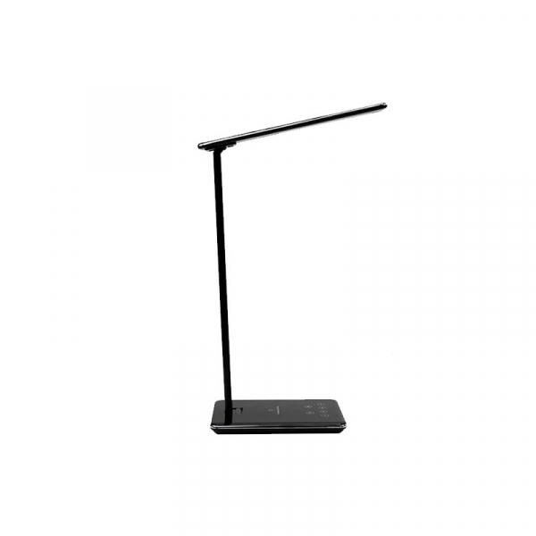 Lampa de birou cu incarcare wireless, Pliabila, Protectie ochi, Iesire USB, Viziune Led, Control prin atingere, Alb 8
