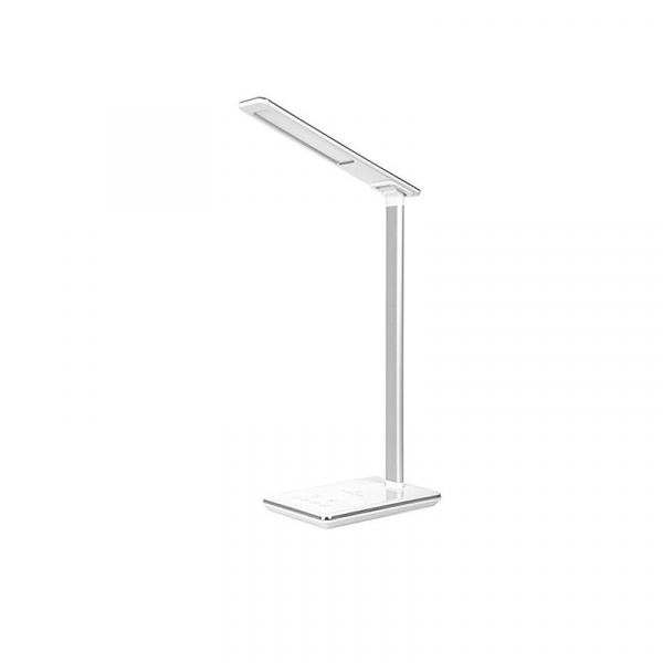 Lampa de birou cu incarcator wireless, Pliabila, Protectie ochi, Iesire USB, Viziune Led, Control prin atingere, Alb imagine dualstore.ro 2021