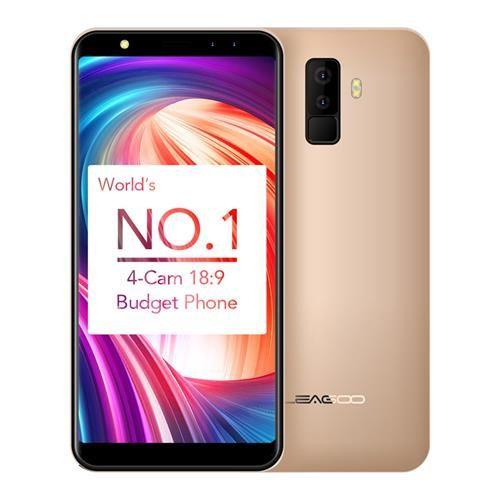 Telefon mobil Leagoo M9, 2GB RAM, 16GB ROM, Android 7.0, 5.5 inch 18:9 Full Screen, MT6580A QuadCore,Amprenta 2