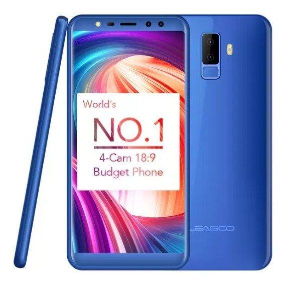 Telefon mobil Leagoo M9, 2GB RAM, 16GB ROM, Android 7.0, 5.5 inch 18:9 Full Screen, MT6580A QuadCore,Amprenta 4