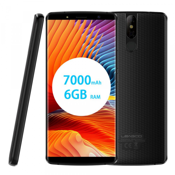 Telefon mobil Leagoo Power 5, 6GB RAM, 64GB ROM, Android 8.1, 5.99 inch, MT6763V OctaCore, 7000mAh, Incarcare Wireless 4